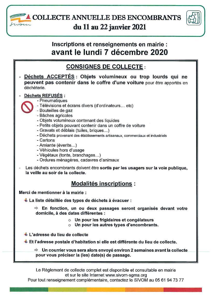Collecte encombrants   Mairie de Labarthe Inard